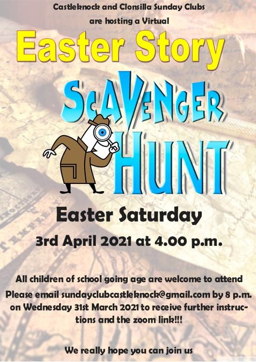 Easter Story Scavenger Hunt